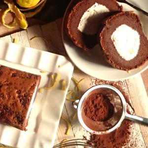 ★慶開幕【藏點子】奶霜瑞士捲。柚香巧克力◎少女為之瘋狂的香柚巧克力捲,清甜爽口,團購搶翻天!可搭配成為~彌月蛋糕~