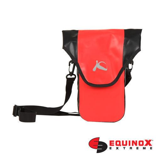 【露營趣】EQUINOX karana 可背式 防水3C袋 相機袋 相機包 單眼相機 數位相機 防水包 腰包 (紅色) M 59022