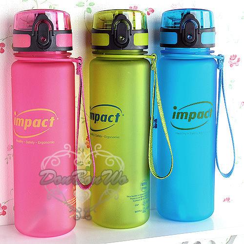 IMPACT魔幻瓶隨身瓶歡樂水壺霧面500ML粉580596籃580589綠580602海渡