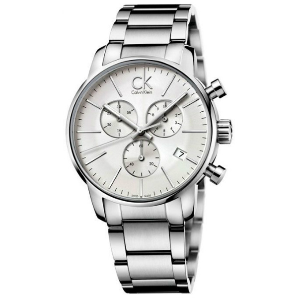 CK 都會系列(K2G27146)都會時尚計時腕錶/白面43mm