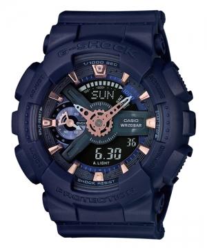 國外代購 CASIO G-SHOCK縮小系列 GMA-S110CM-2A深藍 防水 手錶 腕錶 電子錶男女錶