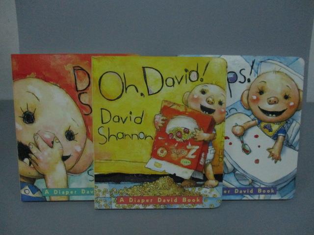 【書寶二手書T1/語言學習_NPF】Oh!David_OOPS!_David Smells_3本合售