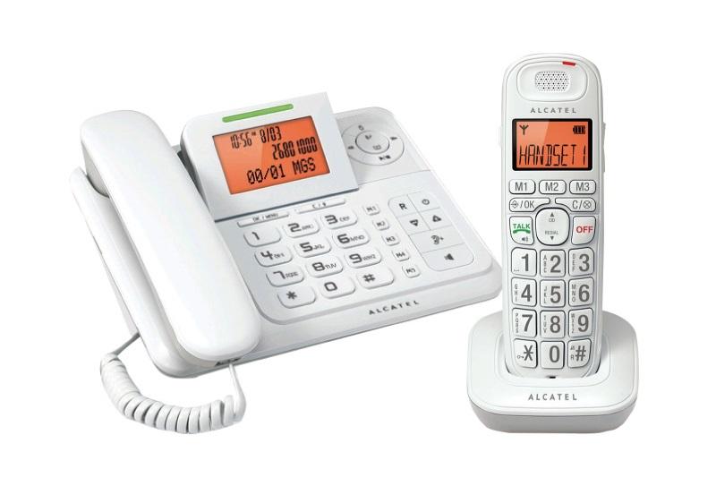 Alcatel 阿爾卡特 XL300 數位無線增音答錄子母電話機