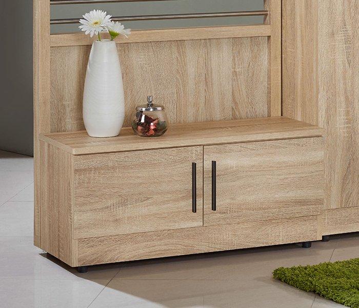【尚品家具】JF-273-3 高爾2.7尺橡木紋座鞋櫃