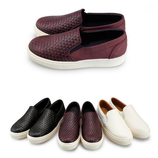 【My style】富發牌-G65 編織拼接質感便鞋 黑.白.紅23.5-25號。任兩雙免運