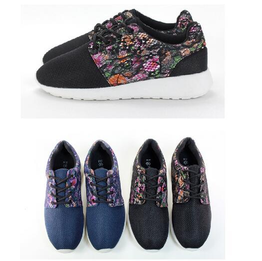 【My style】富發牌-FF36 薔薇之戀蕾絲花布透氣慢跑鞋 黑花.藍花,23-25號。任兩雙免運