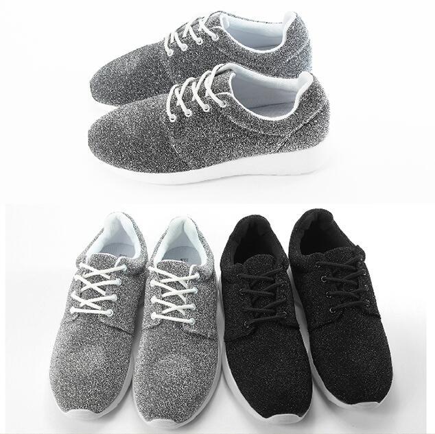 【My style】富發牌-FF35 亮蔥點淑女慢跑鞋 銀.黑,23-25號。任兩雙免運