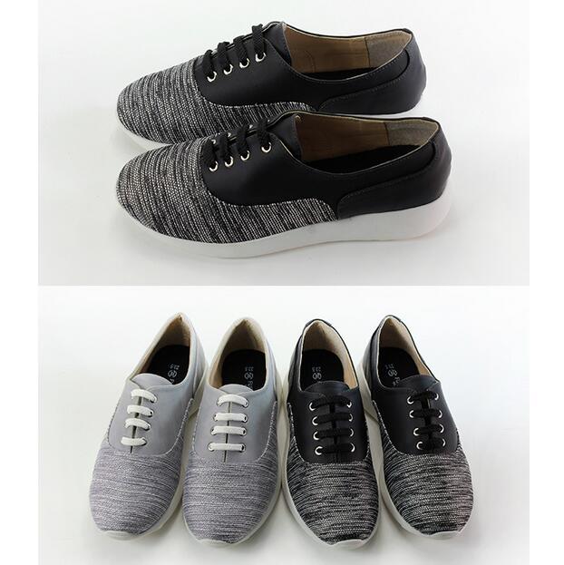 【My style】富發牌-FE90 異材質拼接繫帶慢跑鞋 黑.灰,23-25號。任兩雙免運