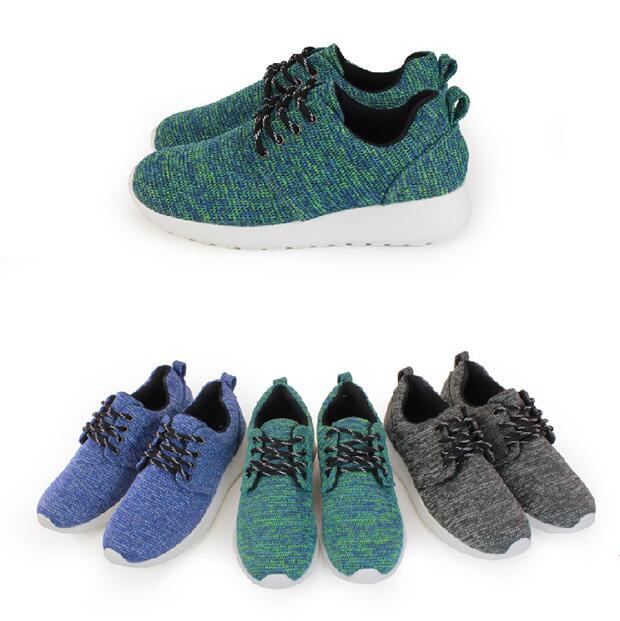 【My style】富發牌-R75 混色質感織紋慢跑鞋 黑.藍.綠,23-25號。任兩雙免運