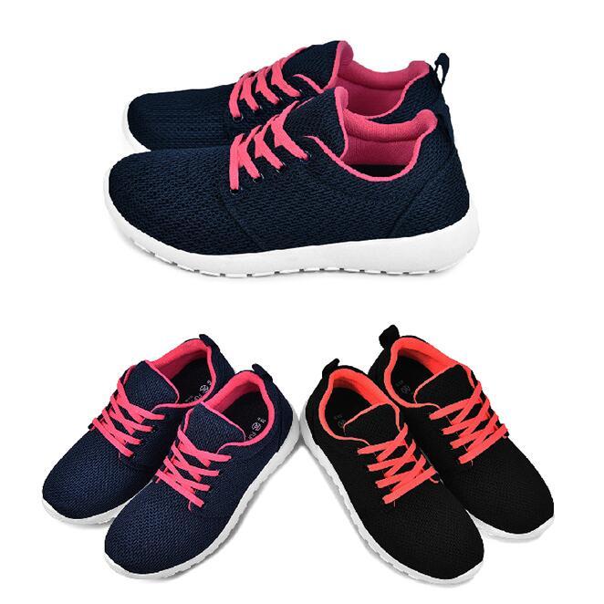 【My style】富發牌S143嚴選素色質感慢跑鞋(藍/桃、黑/桔)23-25號-任兩雙免運