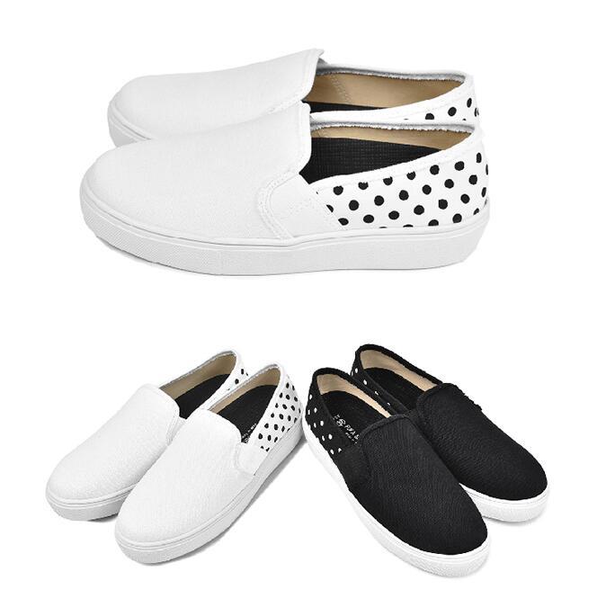 【My style】富發牌R50日系素色點點便鞋-懶人鞋(黑點.白點)23-25號-任兩雙免運