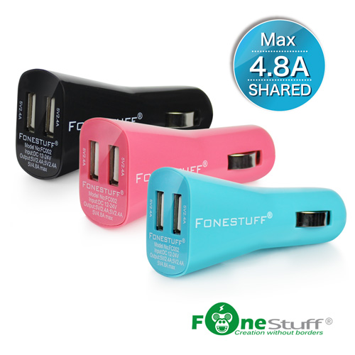 [超快速充電] FONESTUFF瘋金剛FC002 4.8A超快速雙USB車充