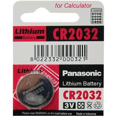 【國際牌 Panasonic 電池】 CR2032 鈕扣電池 (3V)