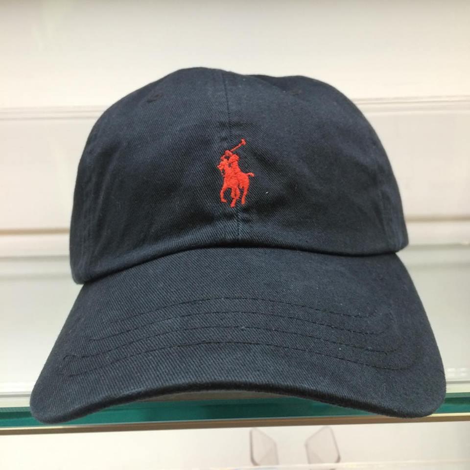 BEETLE POLO RALPH BASEBALL CAP 全黑 黑紅 馬球 LOGO 可調式 老帽 棒球帽 MN-384