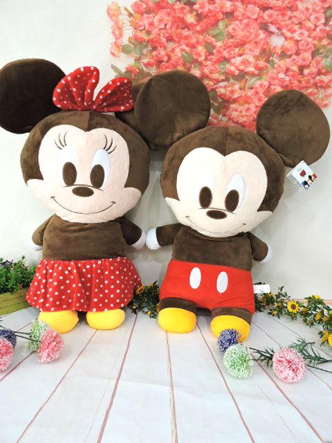 ~*MY 71*~  絨毛娃娃  18吋 米奇米妮長枕 可愛 迪士尼 系列 玩偶 抱枕 大型 娃娃 兒童 玩具 禮物