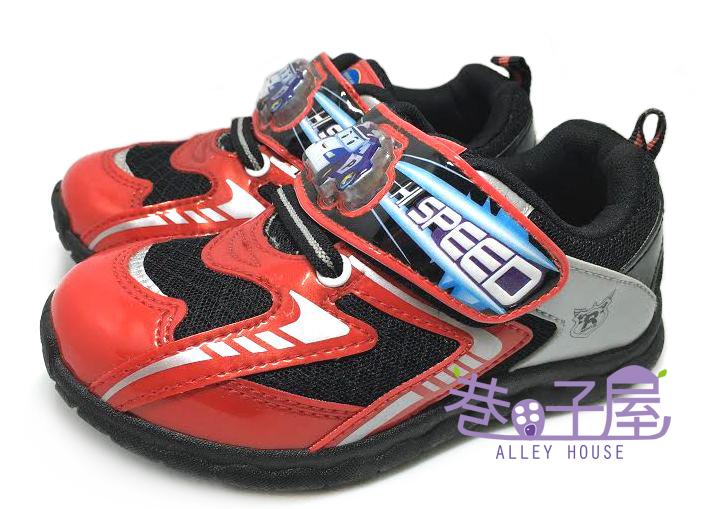 【巷子屋】POLI 波麗 男童電燈運動休閒鞋 [41932] 紅黑 MIT台灣製造 超值價$198