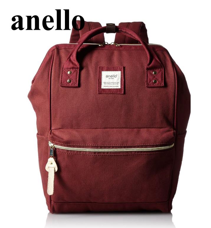 【momi宅便舖】 anello 大開口手提式後背包(酒紅)   AT-B0481A
