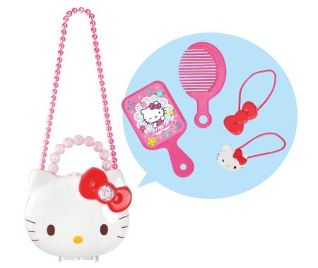 【真愛日本】16031800009 玩具提盒梳妝組附造型  三麗鷗Hello Kitty凱蒂貓 兒童 玩具 扮家家酒