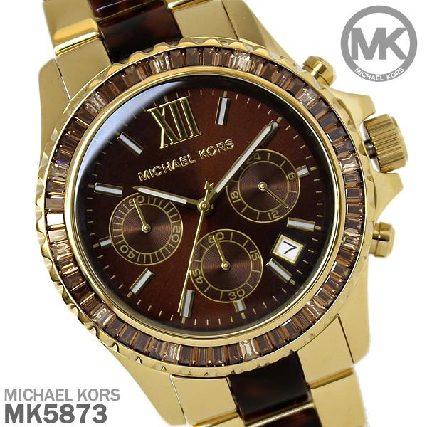 美國Outlet正品代購 MichaelKors MK 精鋼 水鑽  陶瓷  三環 手錶 腕錶 MK5873
