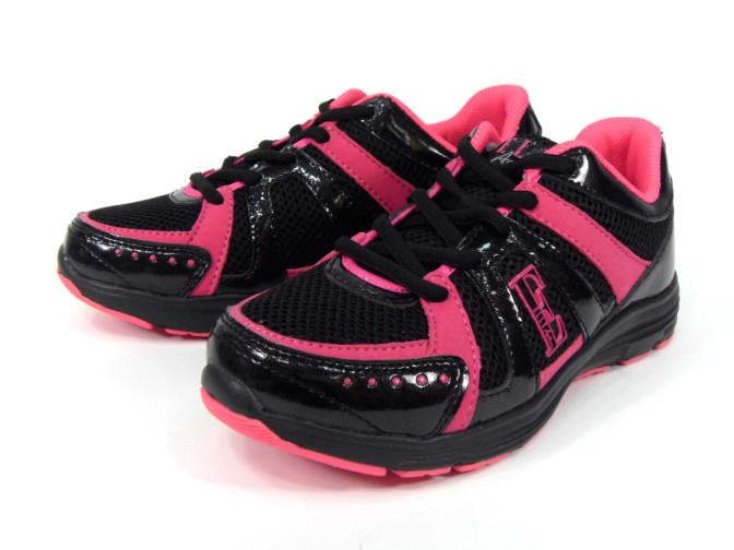 【錢豪童裝童鞋】ELLE女款運動鞋 黑粉(38、40號)