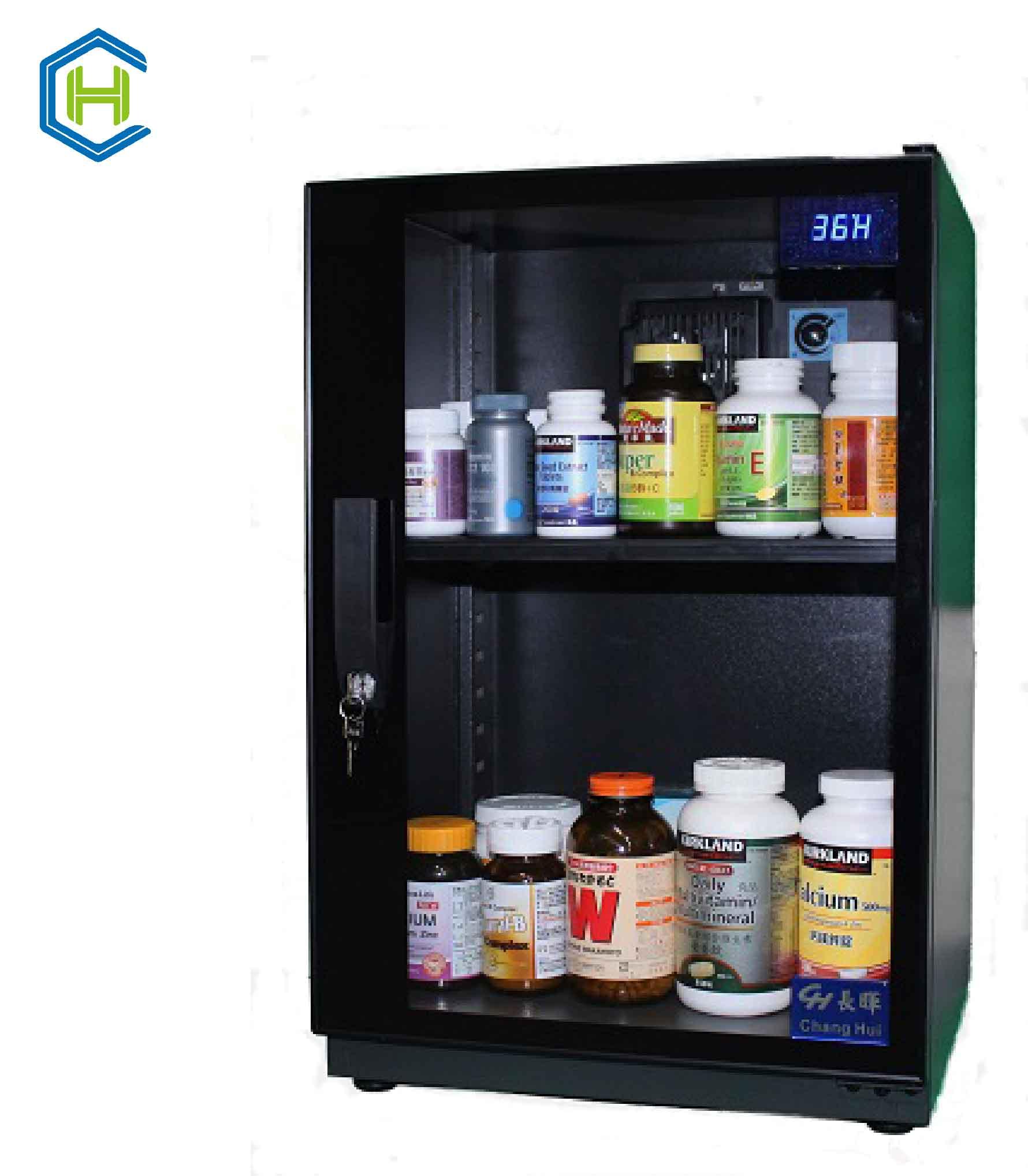 長暉CH-168S-080可調式防潮箱 晶片除濕 可放營養保健品