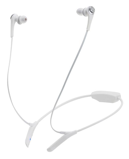 """《育誠科技》『audio-technica 鐵三角 ATH-CKS550BT 白色』藍牙耳機/藍芽Ø9.8mm""""雙磁界驅動單元/氣流低頻風孔系統/重低音/另售ATH-CKS77XBT"""