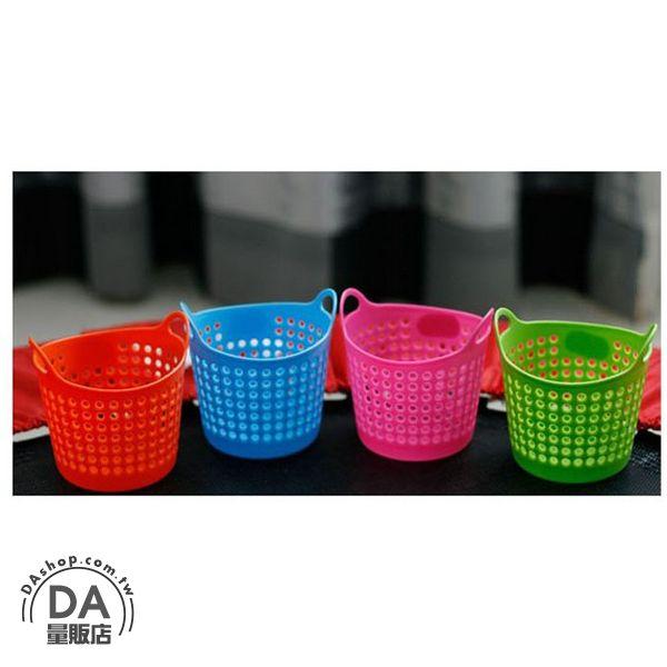 《DA量販店》實用 桌面 收納 迷你 筆筒 雜物籃 儲物籃 文具 顏色隨機(V50-0097)