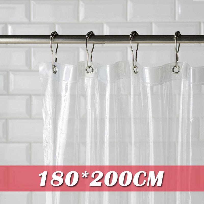 《喨晶晶生活工坊》m&m 默瑪 PVC全透明金屬扣防水浴簾 隔間簾門簾 阻擋冷氣暖氣 180*200