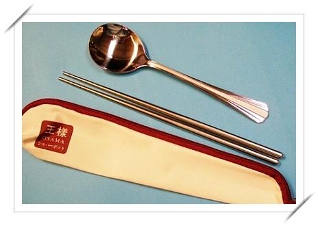 筆袋裝2件入不銹鋼筷套組 特價 99