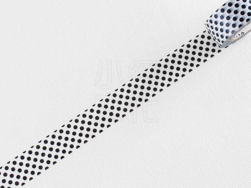 *小徑文化*日本進口 Mark`s maste BASIC 系列和紙膠帶 - 水玉_黑 ( MST-MKT40-BK )