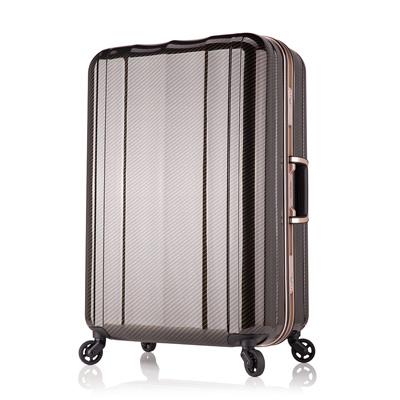 日本 LEGEND WALKER 6702-64-26吋 鋁框超輕量行李箱 碳纖黑