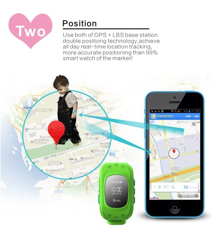 2017 GPS Trackers for Kids Child Older Smart GPS Watch Bracelet Wristband Positioning of Mobile Phone Anti-lost Personal Tracker