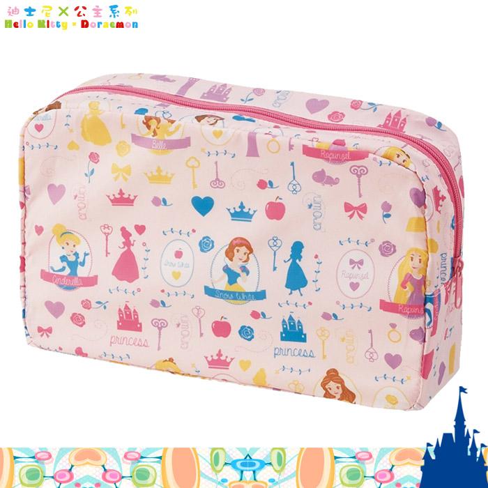 大田倉 日本進口正版 DISNEY迪士尼 公主尿布包 收納袋 輕薄款 防潑水 攜帶用 化妝包  330001