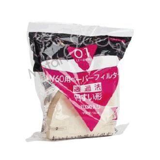 【Metart形而上】HARIO  無漂白錐型濾紙V01/100入