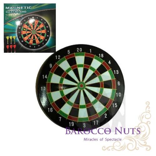 【Barocco Nuts】[Party派對遊戲]紅心射靶-磁性 安全飛鏢靶:14吋磁鐵飛鏢/磁力 飛標-標準色MAGNETIC DARTBOARD(附6支飛鏢靶/BL17015/可掛式/桌遊/家庭娛樂)
