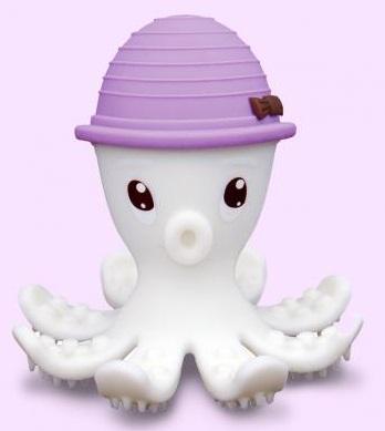 【淘氣寶寶】mombella 固齒器 樂咬咬章魚 紫色