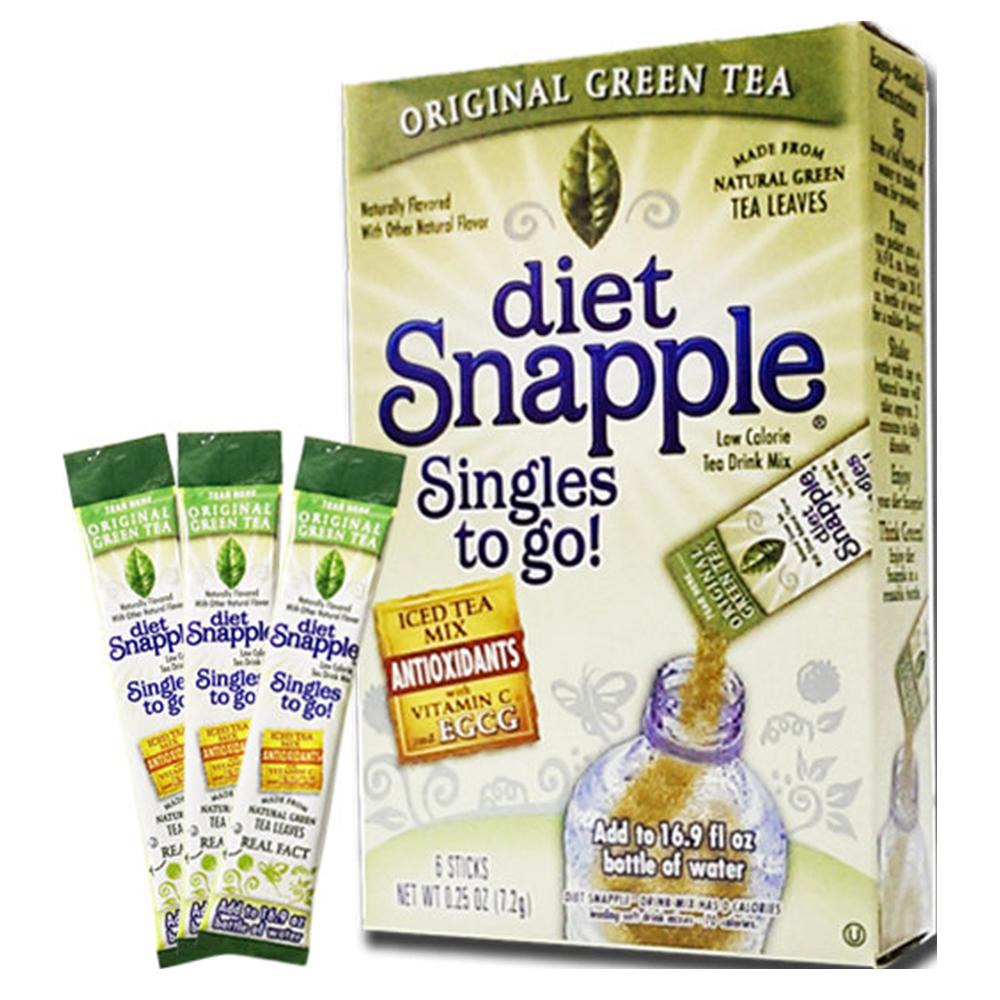 美國進口 Snapple 思樂寶-綠茶7.2g