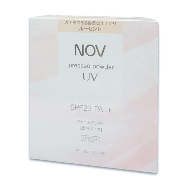 NOV娜芙防曬蜜粉spf23(透明色)粉餅+粉撲 公司貨中文標 PG美妝