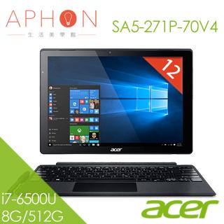 【Aphon生活美學館】ACER Switch Alpha 12 SA5-271P-70V4 i7-6500U 12吋 QHD筆電(8G/512G SSD/Win10)-送acer藍芽滑鼠