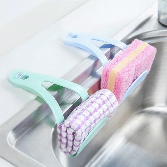 ♚MY COLOR♚水槽收納創意吸盤架 廚房 瀝乾 通風 衛生 乾淨 懸掛 置物 菜瓜部 清潔【R69】