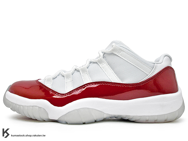 2016 台灣未發售 2001 經典配色重新復刻 NIKE AIR JORDAN 11 RETRO LOW WHITE RED CHERRY 男鞋 低筒 白紅 亮皮 冰底 紅白 AJ XI (528895-102) !