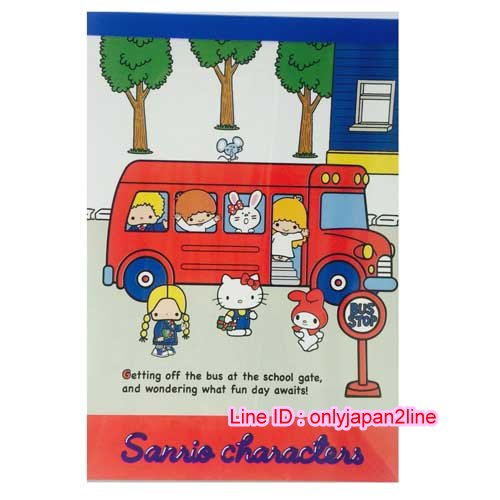 【真愛日本】16111900020日本製A6便條本70'S MX公車紅   三麗鷗 Hello Kitty 凱蒂貓 信紙 便條紙 文具