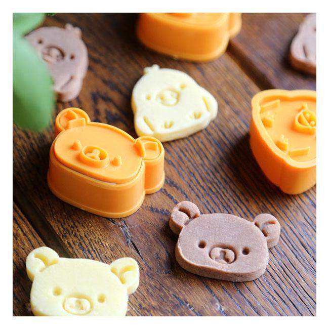 超萌拉拉熊手工餅乾模型 3個/組 拉拉熊/小雞 卡通 模具 切模 壓模 烘培DIY模具 翻糖壓模 黏土壓模 小熊巧克力