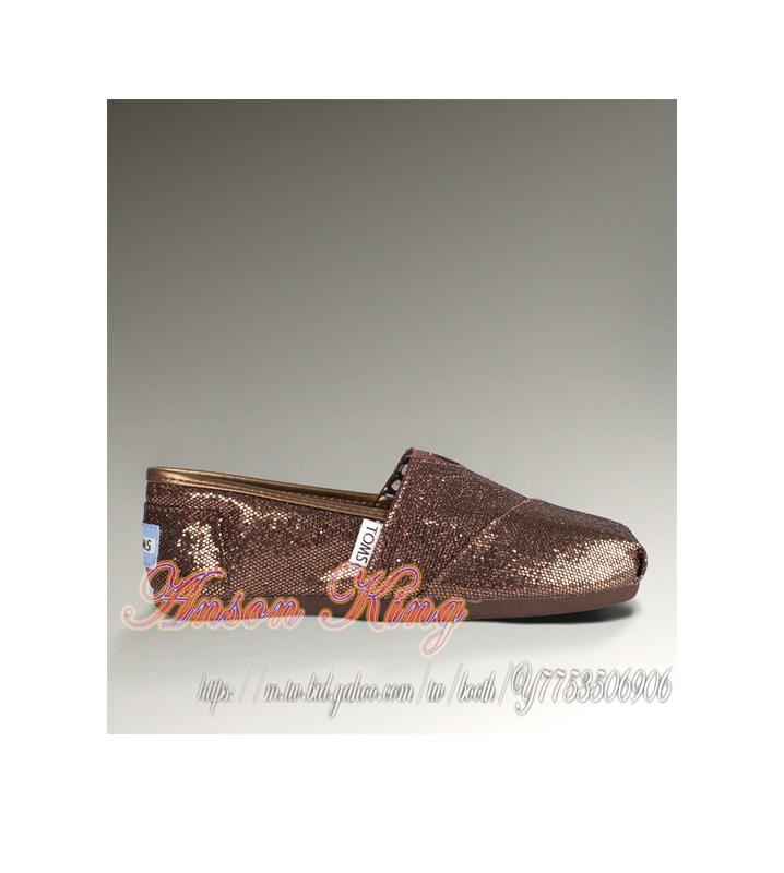 [女款] 國外代購TOMS 帆布鞋/懶人鞋/休閒鞋/至尊鞋 亮片系列  古銅