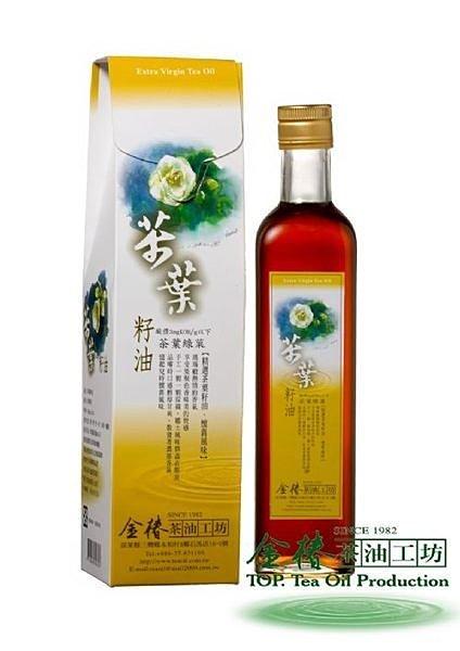 茶葉綠菓 500ML 茶葉籽油 苦茶油 冷壓初榨 開胃苦茶油 金椿茶油