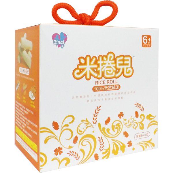 米捲兒 買再送一片稻鴨米餅 100%天然純米餅 (單盒20入)