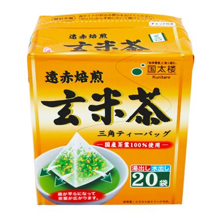 [敵富朗超市]國太樓 立體三角包玄米茶(20袋)
