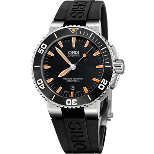 ORIS 豪利時 0173376534159-0742634EB時間之海專業潛水腕錶/黑面43mm