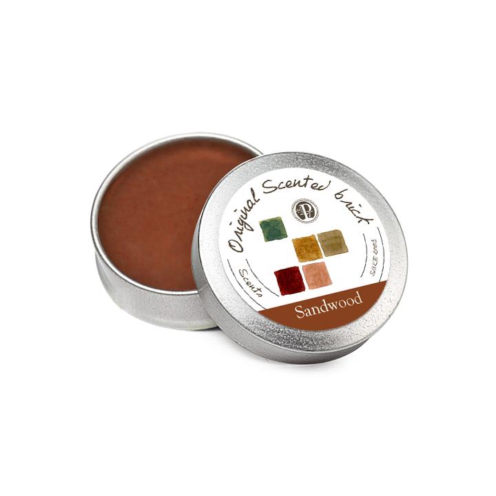 【OP 窩居小徑】Sandalwood 檀香靜園 精油芳塊香磚-12±2g 隨身盒,純手工製作