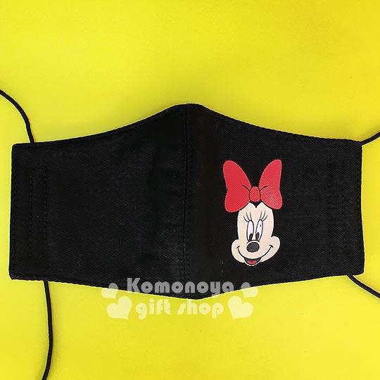 〔小禮堂〕迪士尼 米妮 兒童立體口罩《黑.大臉》感冒對策用品
